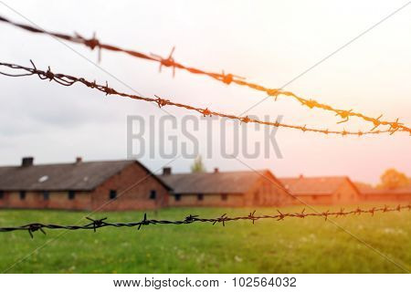 Birkenau concentration camp in southern Poland