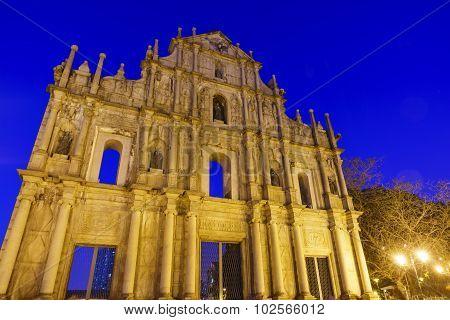 Ruínas Da Antiga Catedral De São Paulo At Macau