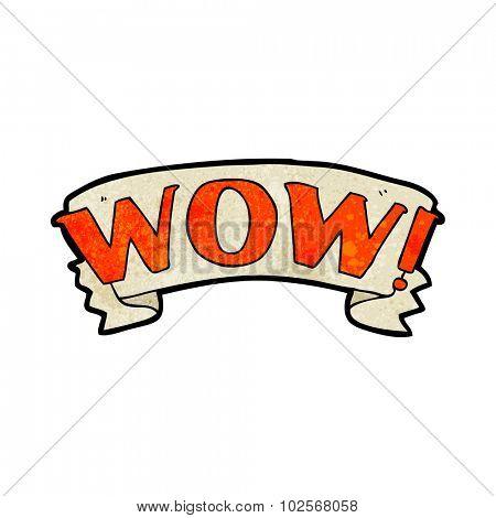 cartoon wow symbol
