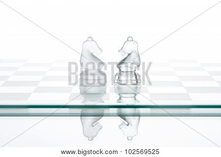 Two Chess Horses, Business  Face To Face War
