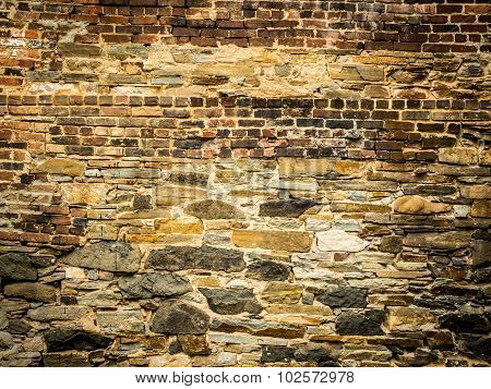 Old Stone and Brick Wall
