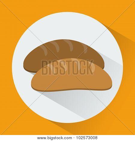 Bread Colorful Round Icon