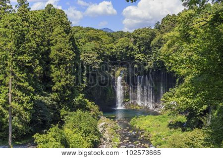 Shiraito Falls Near Mount Fuji