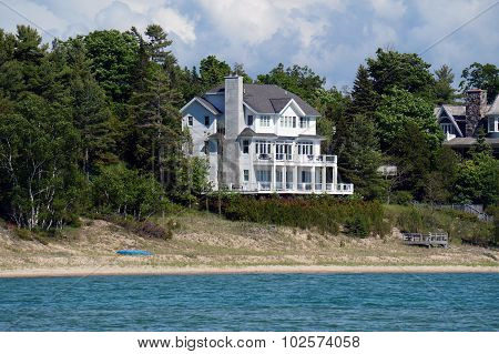 White Mansion on the Beach
