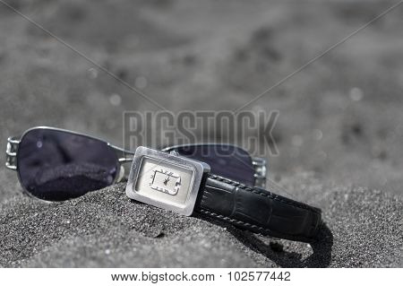 Sunglasses And Wrist Watch
