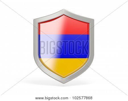 Shield Icon With Flag Of Armenia
