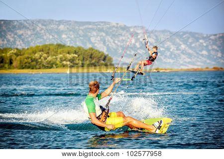 Water Fun And Kitesurfing In Ada Bojana, Montenegro
