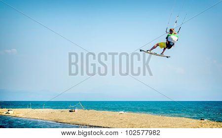 Water Fun And Kiteboarding In Ada Bojana, Montenegro