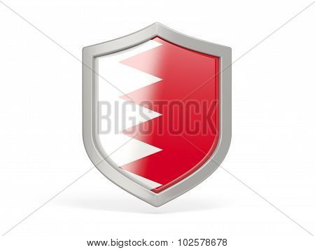 Shield Icon With Flag Of Bahrain