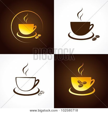 Cafe cup logo