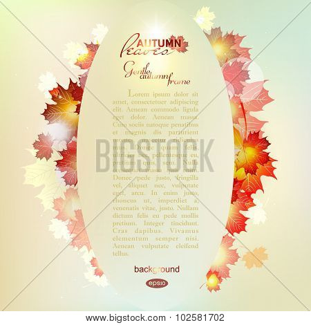 Vector illustration of autumn pattern with colorful translucent