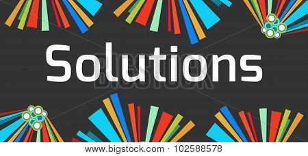 Solutions Dark Colorful Elements