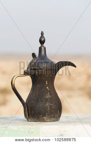 Traditional Vintage Arabian Old Smoked Coffee Maker.