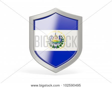 Shield Icon With Flag Of El Salvador