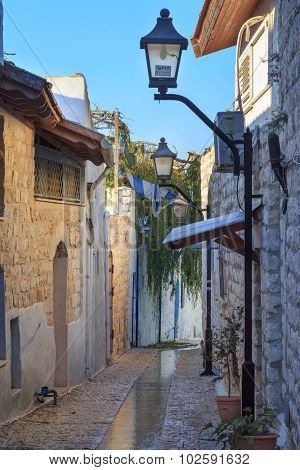 Street In Zefat (safed) City, North Israel.