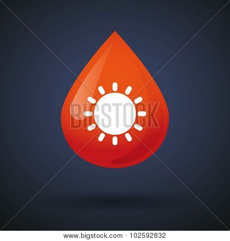 Blood Drop Icon With A Sun