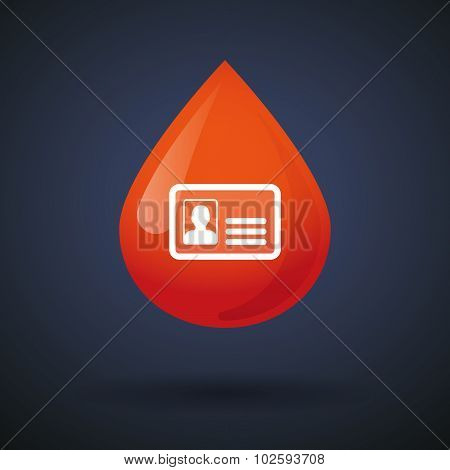 Blood Drop Icon With An Id Card
