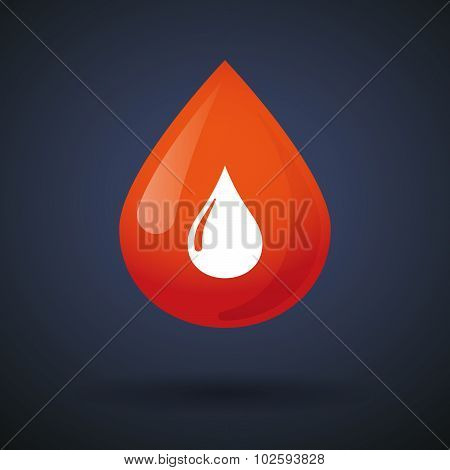 Blood Drop Icon With A Fuel Drop