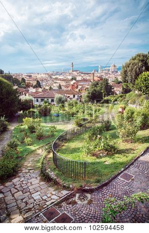 View From Giardino Delle Rose To The City Of Florence