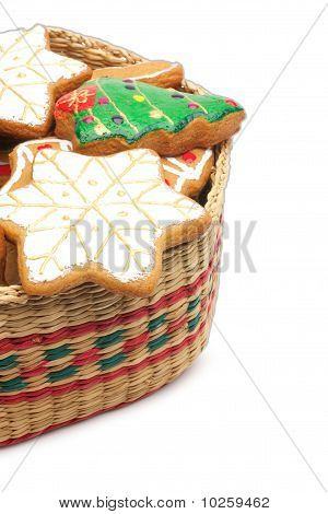 Christmas Cookies In The Basket