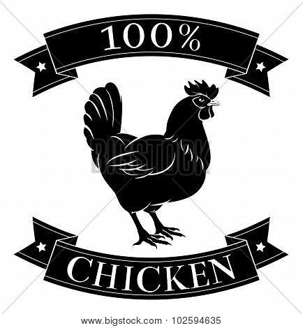 100 Percent Chicken Food Label