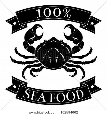 100 Percent Seafood Food Label