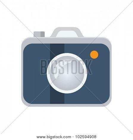Photo camera flat icon, vector logo ilustration