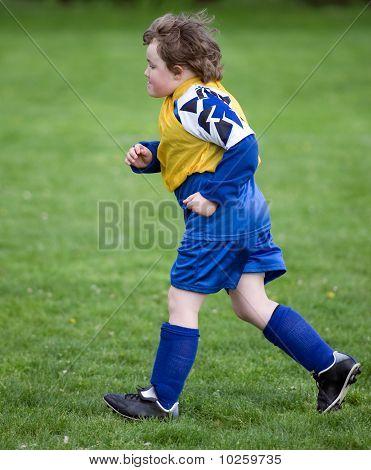 Running Soccer Player