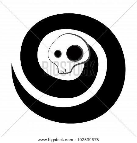 Spiral skull monster