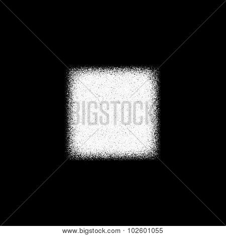 White Abstract Square Badge