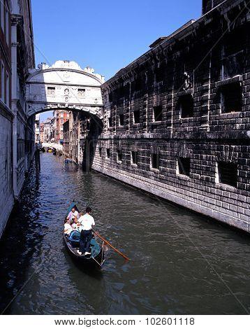 Gondola ride, Venice.