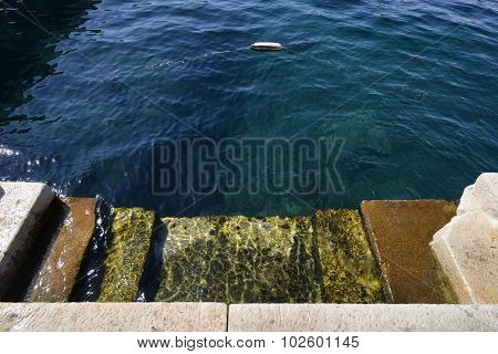 Steps Leading To The Sea