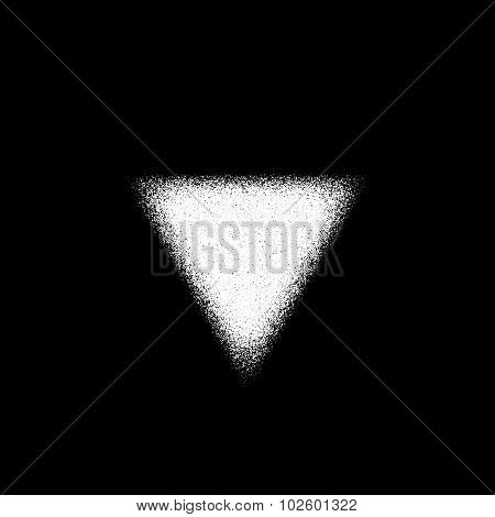 White Abstract Triangle Badge