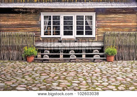Old Wooden House Fragment