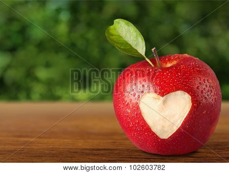 Heart Shape on Apple.
