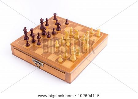 Chess Board With Chessmen