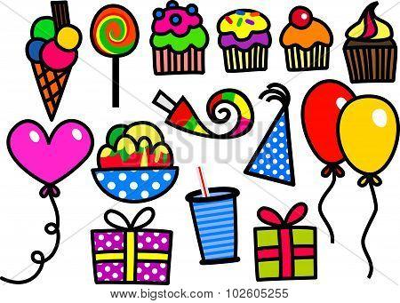 Kids Party Doodles