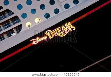 Disney Dream Cruise Ship - close