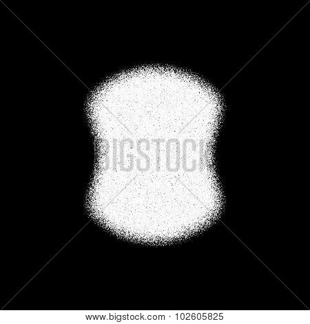 White Abstract Badge Template