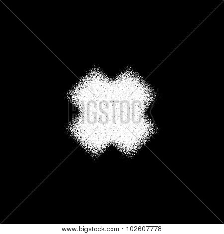White Abstract Cross Badge