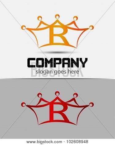 Abstract letter R logo design template