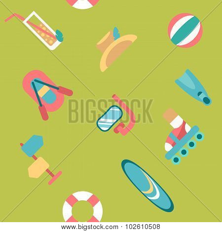 Endless Summer Beach Background