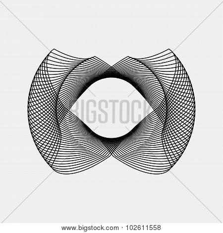 Black Abstract Fractal Shape