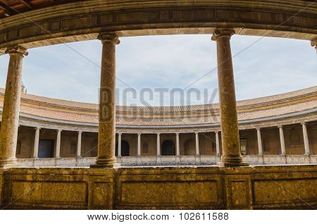 Colonnade In The Courtyard