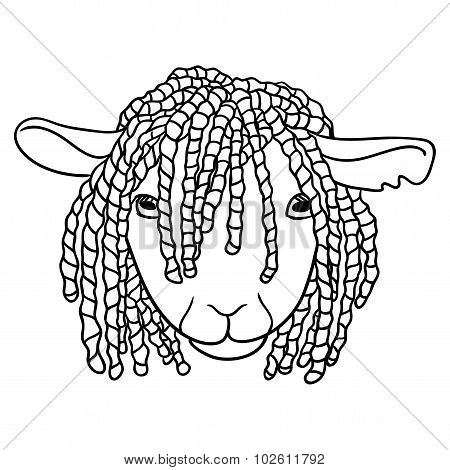 Sheep With Dreadlocks
