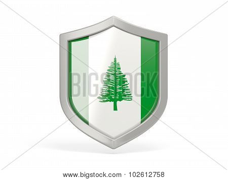 Shield Icon With Flag Of Norfolk Island