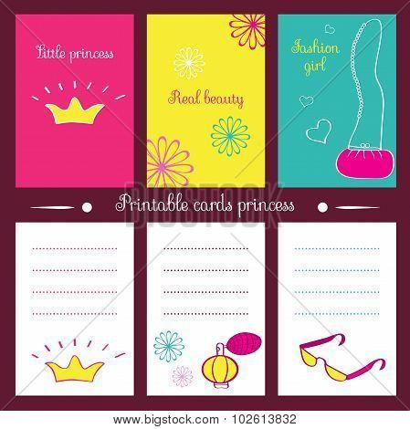 Printable Cards Princess.