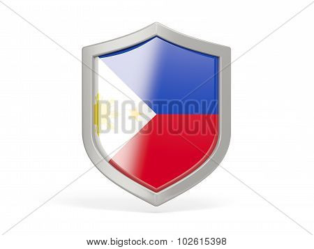 Shield Icon With Flag Of Philippines