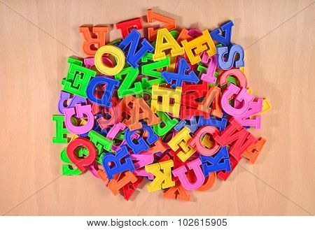 Heap Of Plastic Colored Alphabet Letters
