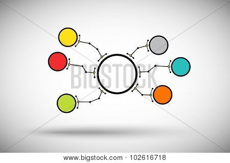 Round Cell Branches Color